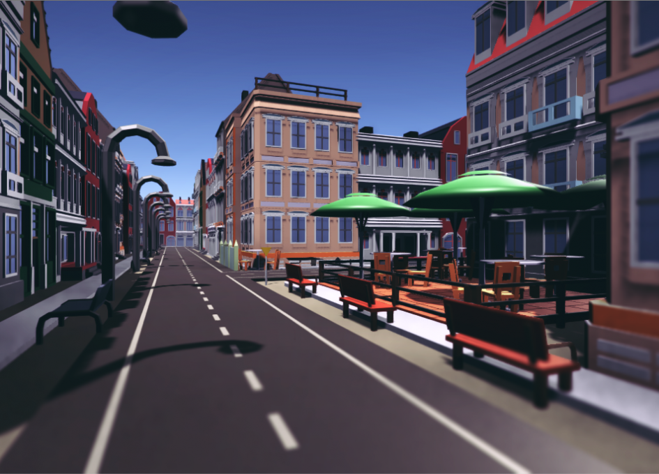 Low poly European City Pack